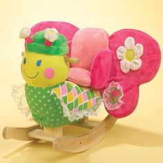 Girls' Bonita Butterfly In Pink, Yellow And Green