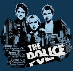 """The Police - hmm, but wihtout my calender I don't know the year! Their portrait is taken from their single release of """"De Do Do Do, De Da Da Da"""", 1980. But as far as I know, The Police were in Montserrat in June 1981 to record """"Ghost In The Machine"""". Anyone got an idea? Was this ad from 1983?"""