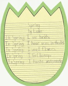 First Class Teacher: Spring / Easter Basket Writing Activities