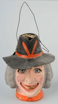 Witches head, papier mache lantern. Would love to own this...