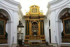 El interior de la Iglesia del Monasterio de Santa Ana, Valladolid, España, de Francisco Sabatini (estilo neoclásico)