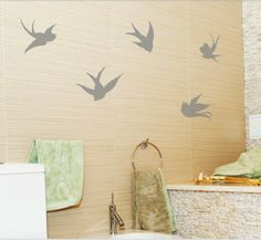 Swallow Birds Wall Decal