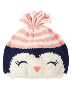 Knitting Patterns For Kids Penguin Sweater Hat at GymboreeToddler Girls Ivory Penguin Sweater Hat by Gymboree. imported and Collection Name: Polar Pink.Children and Young If only Bella kept her hats on Baby Hats Knitting, Knitting For Kids, Baby Knitting Patterns, Knitted Hats, Sweater Hat, Knit Beanie Hat, Knit Headband, Pinguin Hut, Pull Bebe