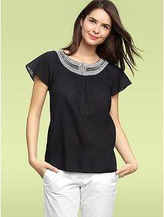 Gap gathered pocket maxi dress