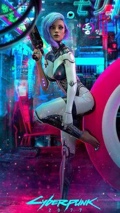 Mode Cyberpunk, Cyberpunk Girl, Cyberpunk Aesthetic, Cyberpunk Fashion, Cyberpunk 2077, Cyberpunk Anime, Fantasy Art Women, Fantasy Girl, Arte Digital Fantasy
