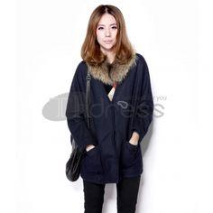 Wool Coats-v-neck wool Ladies Jacket