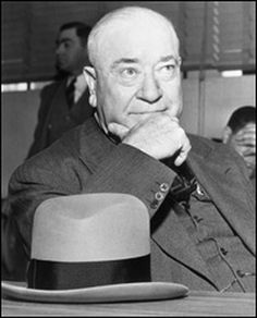 Tom Pendergast appearing in court in 1939, where he pleaded guilty to charges of income tax evasion. Pendergast ran Kansas City's political machine during the 1920s and '30s and had close ties to the mob. After Pendergast fell from power, his lieutenant, Charles Binaggio became the new leader of the city's underworld.