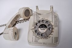 Jennifer Collier takes these old, discarded paper products and turns them into incredible replicas of everyday items like typewriters, cameras, clothes, and even shoes. Everyday Items Made from Old Paper - My Modern Met
