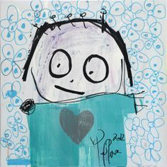 Poul Pava is a artist from Denmark. He's painting in a naive and spontaneous style and he has specialized in painting the child in all of us. The creative brain of Poul Pava provide every time for a beautiful contrast between the colors and figures. Naive, Scandinavian, Snoopy, Canvas, Creative, Artist, Blue, Painting, Fictional Characters