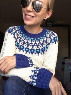 b6d3324d0 Crochet sweater pattern for women HELGA