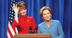 Amy Poehler and Tina Fey are Sarah Palin and Hillary Clinton