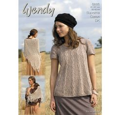 21c5f7827 Swing Tunic and Shawl in Wendy Cotton DK - Discover more Patterns by Wendy  at LoveKnitting. The world s largest range of knitting supplies - we stock  ...