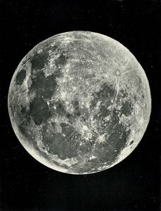 "Full Moon, exhibiting the bright streaks radiating from Tycho, 1871 - from ""The Moon: Considered as a Planet, a World, and a Satellite"" by James Nasmyth and James Carpenter, one of the first books to be illustrated by photo-mechanical prints."