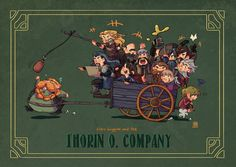 Bilbo and the Dwarves by ~jingster on deviantART The Hobbit fanart