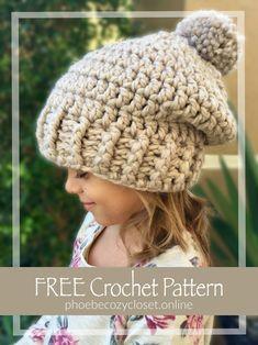 FREE Crochet Chunky Slouch Hat Pattern