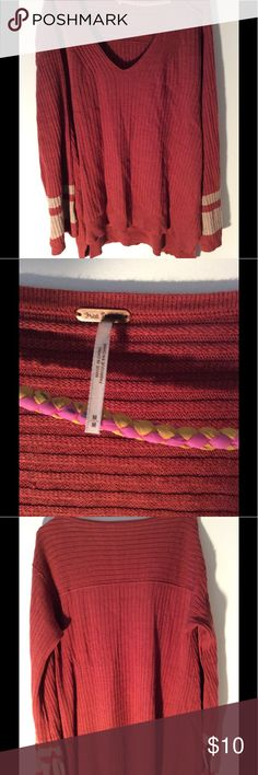 Sweater Very large sweater need to be tall to pull this off. Never worn cotton comfy Free People Tops