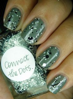 China Glaze Recycle plus Lynnderella Connect the Dots, super cute