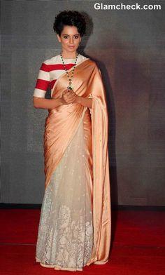 Kangana Ranaut in Sabyasachi Sari at Rajjo Music Launch