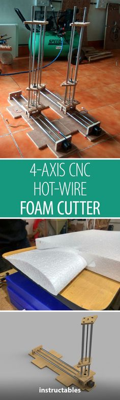 Make a CNC hot-wire foam cutter that uses Arduino Mega and a Ramps board. Great for cutting out smooth and accurate aerofoil shapes from a CAD design. Homemade Cnc Router, 4 Axis Cnc, Arduino Cnc, Router Cutters, Foam Cutter, Hobby Cnc, 3d Printer Filament, 3d Cnc, Pi Projects