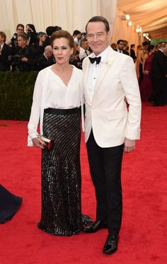 Pin for Later: You Never Forget Your First Time: See All the Met Gala Newbies Bryan Cranston Breaking Bad's Bryan Cranston walked the Met Gala red carpet for the first time with his wife, Robin Dearden.