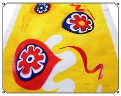 cool Murrina Yellow (panel)  #extralarge #handpainted #laganab #murrina #watercolor