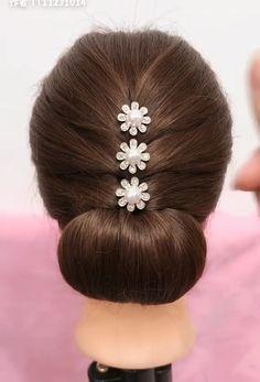 Beautiful enchanting buns hairstyles Beautiful enchanting buns h… - All For Hairstyles DIY Easy Hairstyles For Long Hair, Braided Hairstyles, Wedding Hairstyles, Beautiful Hairstyles, Office Hairstyles, Stylish Hairstyles, Hairstyle Short, School Hairstyles, Hair Updo