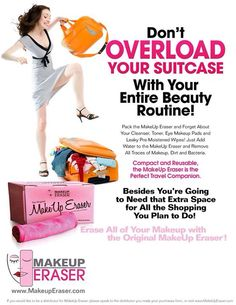 Get your makeup eraser today $19.97, removes all makeup with just water and the cloth www.neenswipeaway.makeuperaser.com