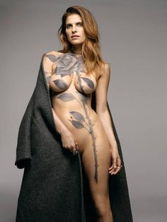 Lake Bell On In a World... and Tattoos., body art, female, woman, nude, beautiful, black rose, photo, tattoo, ink, tush, photo.