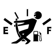 Gas gauge vinyl decal sticker for Car/Truck Window Computer