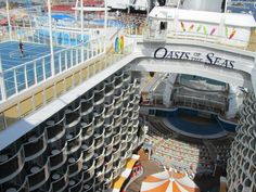 The Oasis of the Seas is just amazing!  Here  is a pic of the Center of the ship!