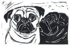 Life is art ... Art is Life: New Pug Collage and Hand Carved Stamp ...
