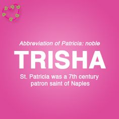 Meaning of the name Trisha Letter Games, Name Games, What Is Your Name, Names With Meaning, Character Names, Patron Saints, Wallpaper Quotes, Baby Names, Meant To Be