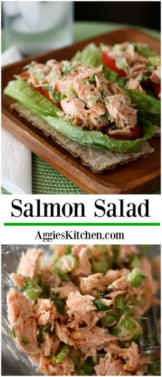This simple Salmon Salad is a great switch up from your tuna sandwich. Bake up some extra salmon at dinnertime and use up the leftovers to create this protein packed salmon salad for lunch the next da (Tuna Sandwich Recipes) Salmon Salad Sandwich, Salmon Salad Recipes, Fish Recipes, Lunch Recipes, Seafood Recipes, Healthy Recipes, Simple Sandwich Recipes, Protein Recipes, Meat Recipes