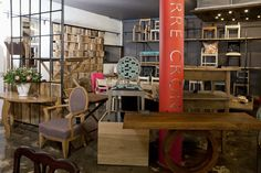 The new Pierre Cronje showroom in Johannesburg, South Africa. Fine Furniture, Showroom, South Africa, Conference Room, Divider, Flooring, Table, Home Decor, Decoration Home