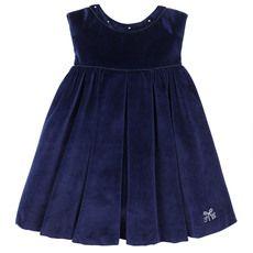 Tartine et Chocolat - Robe en velours bleu marine - 50456