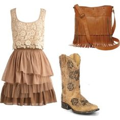 """Country Lace"" by lbrunkho on Polyvore"
