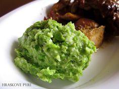 CO POTREBUJETE (na 2 porcie):     200ml mrazeneho zeleneho hrasku   voda   sol   2 struciky cesnaku   1 lyzica olivoveho oleja   1 l...