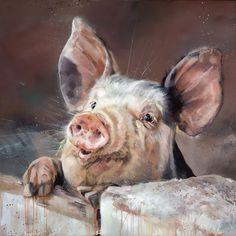 Debbie Boon | Pig Tale Pig Crafts, Pig Art, Barn Art, Pet Birds, Painting & Drawing, Whimsical, Sculptures, Wildlife, Canvas Prints