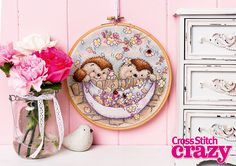 Country Companions Spring Fever by Anchor Cross Stitch Crazy Issue 201 Digital
