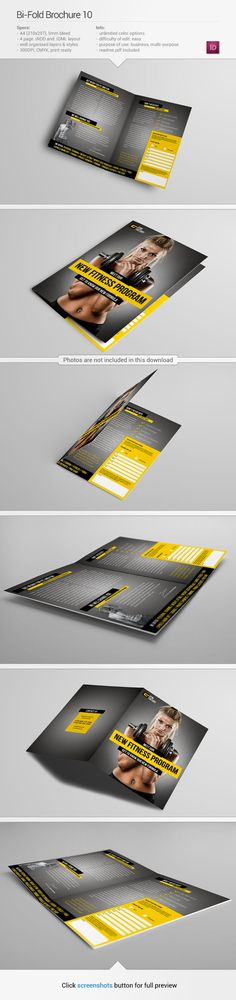 Brochure template #inspiration | via www.behance.net/gallery/Bi-Fold-Brochure-10/10970405