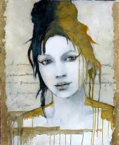 "Marie- Paule"" by Joan Dumouchel Acrylic and Goldleaf Now hanging in ..."