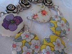 Shabby Chic Armband Blumen von Happy Lilly auf DaWanda.com
