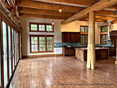 Hybrid Handcrafted Douglas Fir Post and Beam Log Home Black Smith, Timber Frame Homes, Post And Beam, Western Red Cedar, Douglas Fir, Log Homes, Blacksmithing, Farm House, Beams
