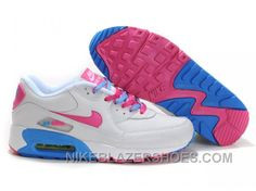 buy popular a027d 9d05b Nike Air Max 90 Womens Pink White Blue Authentic MnNwb, Price   74.00