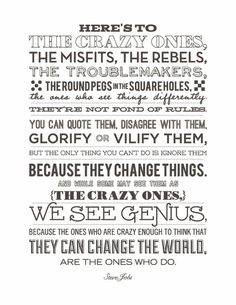 "HERE'S TO THE CRAZY ONES - As the late Steve Jobs so correctly put it - the ones who are crazy enough to think that they can change the world are the ones who do. Maybe this cover letter is untraditional, maybe a little odd - but I believe in the power of crazy, and I believe in the power vested within a single person. There is no company I want to work at more than Aegis, because you celebrate the crazy, the ""one percenters"", the people who can change the world."