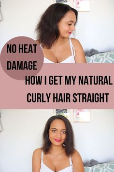 Hello, this is my first impression on the Loreal Steampod Straightener. This is how I go from curly to straight hair. In this video I'm not only unboxing my new flat iron I'm also testing the Loreal Steampod 2.0 Straightener for the first time. How well does it work on afro curly hair. Is it possible to straighten your hair without any heat damage?  I hope you enjoy. Heatless Waves Overnight, Overnight Beach Waves, Overnight Braids, Curly Hair Overnight, No Heat Waves, Curls No Heat, No Heat Hairstyles, Straight Hairstyles, Curly To Straight Hair