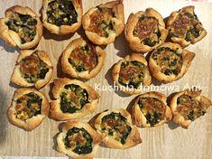 Kuchnia domowa Ani: Koszyczki z ciasta francuskiego ze szpinakiem i serem Feta, Sushi, Ethnic Recipes, Sushi Rolls