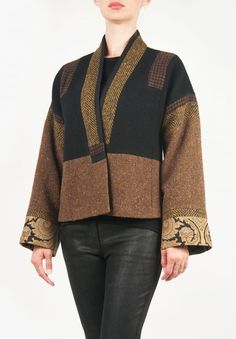 Etro Patchwork Short Jacket in Earth Tones