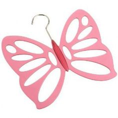 Butterfly Scarf Hanger Pink