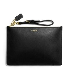 so simple yet so gorgeous (& affordable!) coach, flat zip case.
